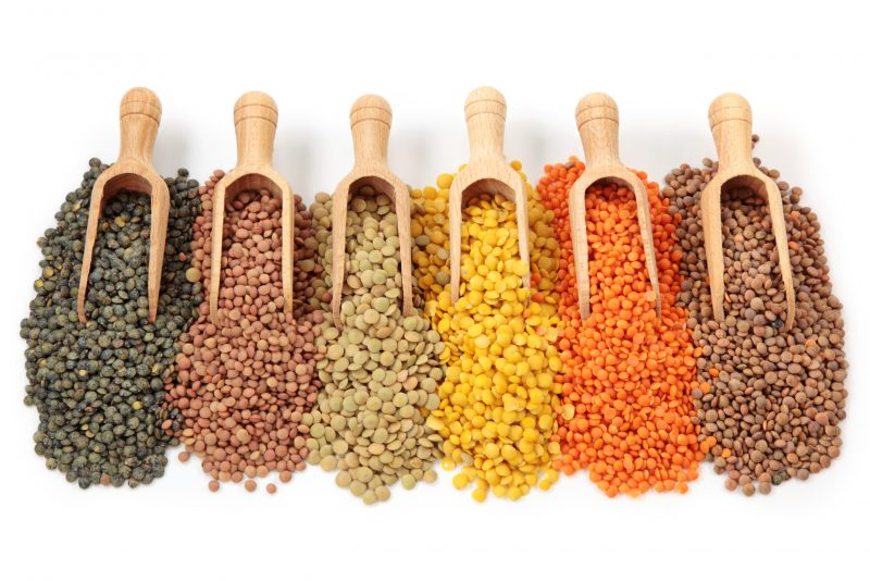 colorful healthy lentils